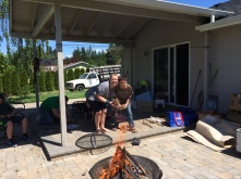Melanie and Ryan after they lit the fire.