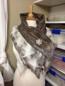 This is the snowflake scarf I made in 2016
