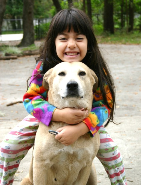 Young Julie with our late dog Sugar
