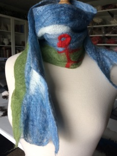 The scarf my grandson made
