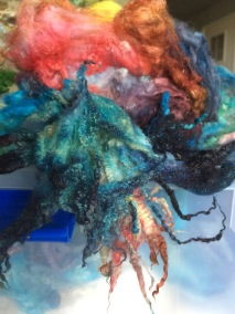 Yarn dyed with food coloring
