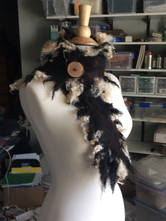 Fluffy scarf for sale at The Art Center in Corvallis