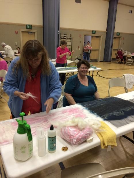 Women at felting workshop